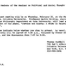 Announcements, 1980-01-30. ...