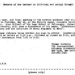 Announcements, 1980-04-23. ...