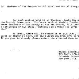 Announcements, 1981-03-27. ...