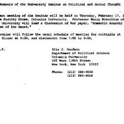 Announcements, 1983-02-01. ...