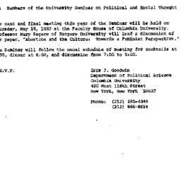 Announcements, 1983-05-06. ...