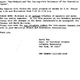 Announcements, 1986-12-29. ...