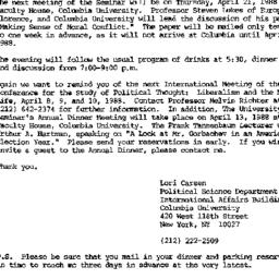 Announcements, 1988-03-15. ...
