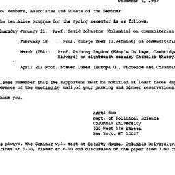 Announcements, 1987-12-04. ...