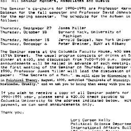 Announcements, 1991-08-20. ...