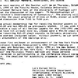 Announcements, 1990-10-04. ...