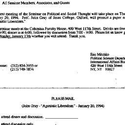 Announcements, 1993-12-16. ...
