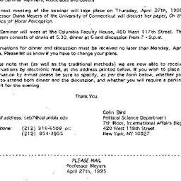 Announcements, 1995-03-23. ...