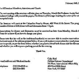 Announcements, 1996-02-14. ...