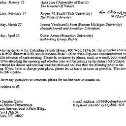 Announcements, 1997-01-10. ...