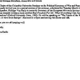 Announcements, 1997-02-14. ...