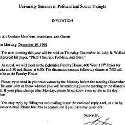 Announcements, 1998-11-20. ...