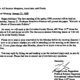 Announcements, 1998-12-31. ...