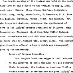 Minutes, 1954-05-04. Americ...