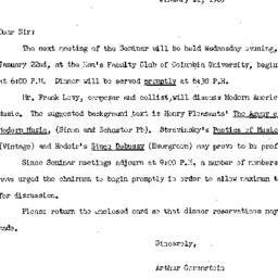 Announcements, 1964-01-11. ...