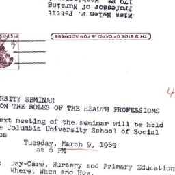 Announcements, 1965-02-26. ...
