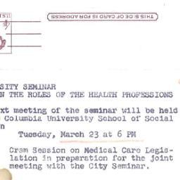 Announcements, 1965-03-23. ...