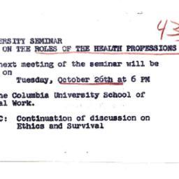 Announcements, 1965-10-26. ...