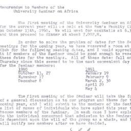 Announcements, 1960-09-29. ...