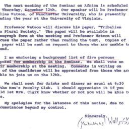 Announcements, 1963-12-06. ...