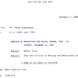 Correspondence, 1960-11-07....