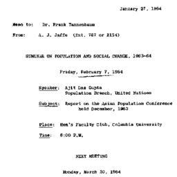 Correspondence, 1964-01-27....