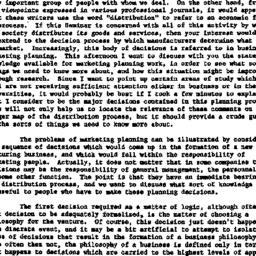 Speaker's paper, 1957-05-13...