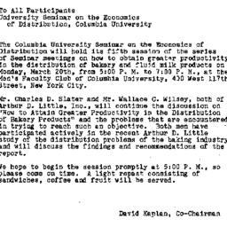 Announcements, 1961-03-13. ...