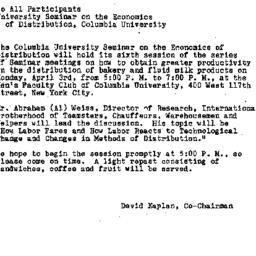 Announcements, 1961-03-24. ...