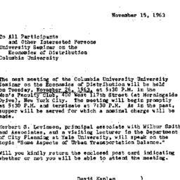 Announcements, 1963-11-15. ...