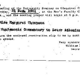Announcements, 1961-12-21. ...