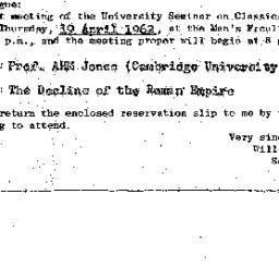 Announcements, 1962-04-19. ...