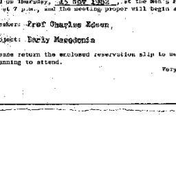 Announcements, 1962-11-15. ...