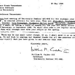 Correspondence, 1965-05-27....