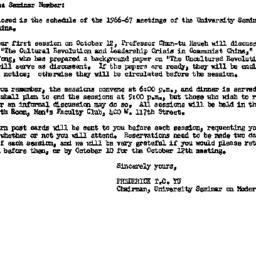 Announcements, 1966-09-30. ...