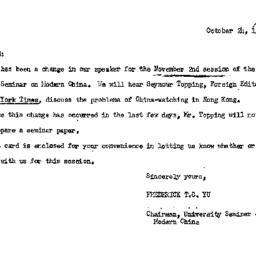 Announcements, 1966-10-24. ...