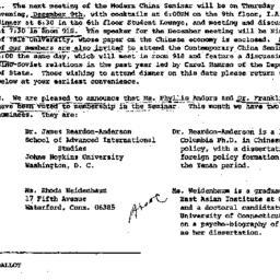 Announcements, 1976-11-29. ...