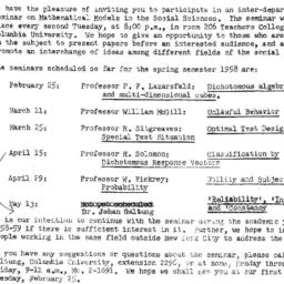 Announcements, 1958-02-14. ...