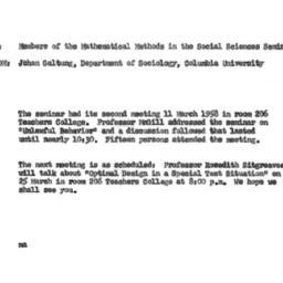 Announcements, 1958-03-21. ...