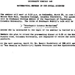 Announcements, 1961-03-17. ...