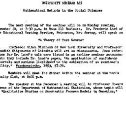 Announcements, 1961-11-10. ...