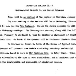 Announcements, 1963-01-14. ...
