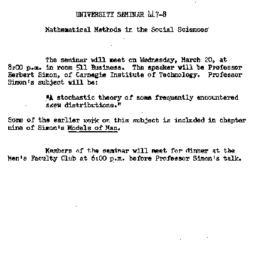 Announcements, 1963-03-08. ...