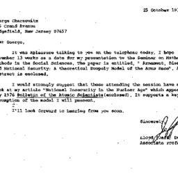 Correspondence, 1978-10-25....