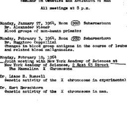 Announcements, 1964-01-27. ...