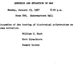 Announcements, 1967-01-23. ...