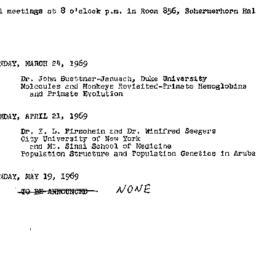 Announcements, 1969-03-24. ...