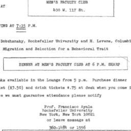 Announcements, 1971-03-15. ...