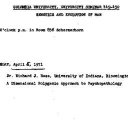 Announcements, 1971-04-05. ...