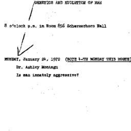 Announcements, 1972-01-24. ...
